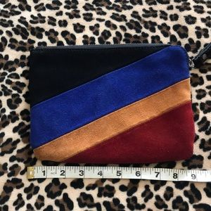 Patricia Nash multicolored leather clutch/wristlet